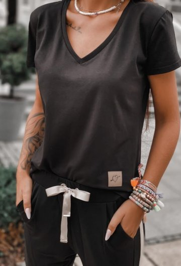 T-shirt Basic Czarny 4