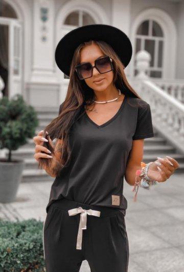 T-shirt Basic Czarny 6