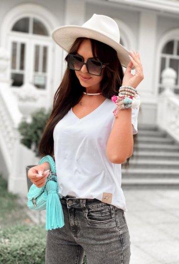 T-shirt Basic Biały 5
