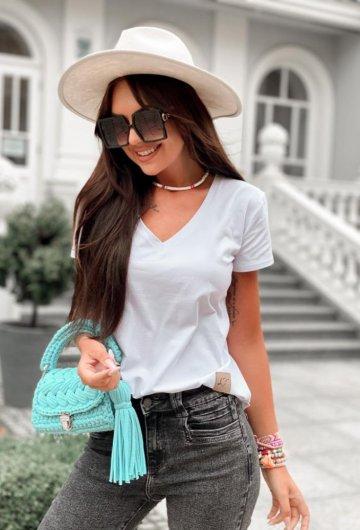 T-shirt Basic Biały 8
