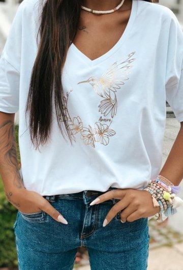 T-shirt Koliber Biały +size