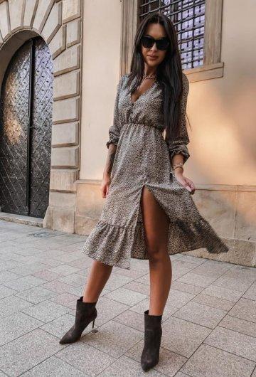 Sukienka Midi z guziczkami