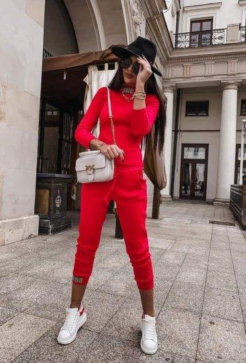 Spodnie Kod Czerwone