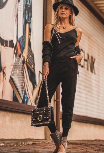Komplet Dzianinowy Chic Black