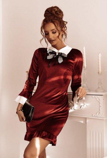 Sukienka Sekretarka Bordo