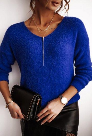 Sweterek V-neck alpaka chaber