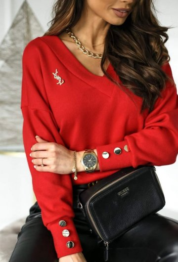 Sweterek Simple Red