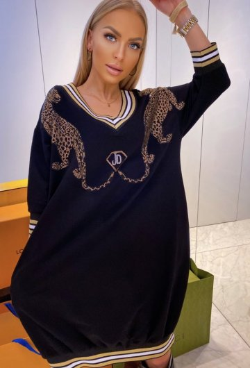 Sukienka Leopard Plus Size