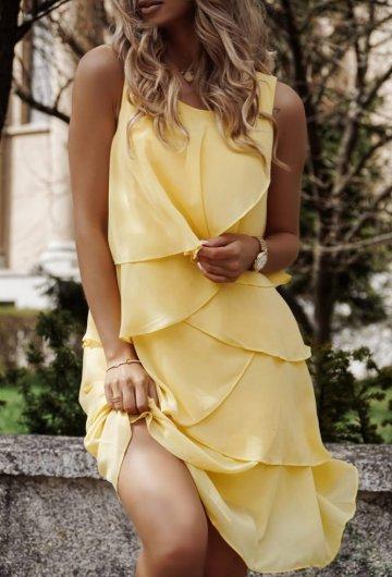 Sukienka Flower Żółta